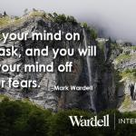 Focus your mind on your task and you will take your mind off of your fears.