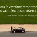 When you invest time rather than spend time, it's value increases dramatically | Mark Wardell